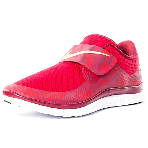 Nike Free Socfly, Zapatillas de Running para Hombre, Naranja/Rosa (Team Red/Metallic Gold-Gm Red), 44 EU