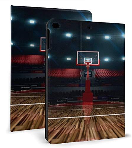 Basketball Court PU Leather Smart Case Auto Sleep/Wake Feature for IPad Mini 4/5 7.9'& IPad Air 1/2 9.7' Case
