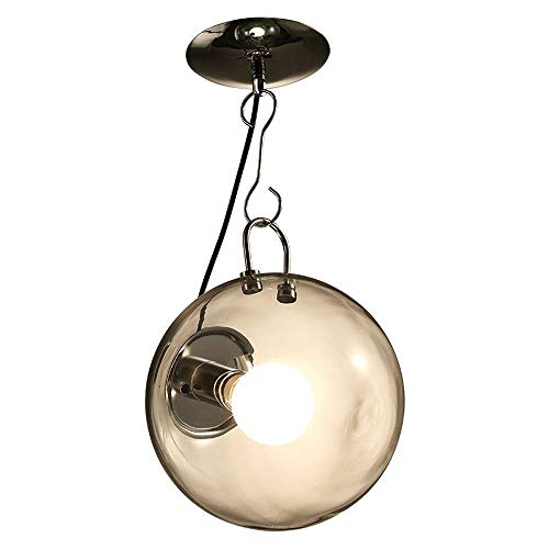 Luz colgante de la gota de cristal de Handblown de la iluminación pendiente, lámpara pendiente de cristal óptica única XYJGWDD