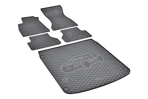 Passende Gummimatten und Kofferraumwanne Set geeignet für Audi A4 Avant ab 2015 EIN Satz