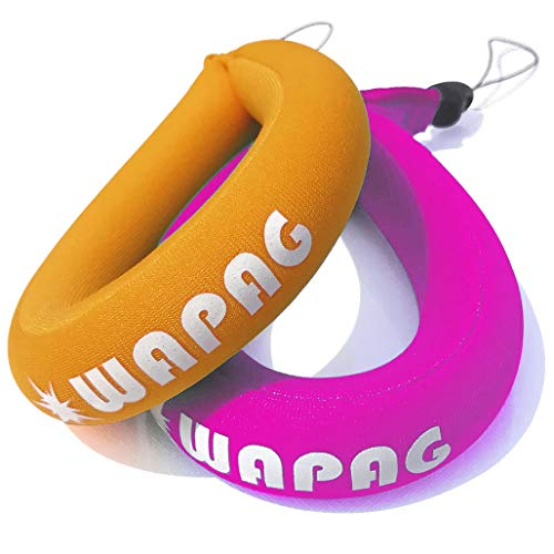 WAPAG Waterproof Camera Float Strap, Floating Wristband Buoyancy Belt for Camera/Waterproof Bag/Cell Phone (Orange Pink)