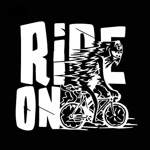Bonitos pegatinas 18. 3CMX16.3CM Paseo delicado en la bicicleta de la bicicleta Dibujos animados lindo original viny calcomanía bonita etiqueta engomada del coche Sticker de carro