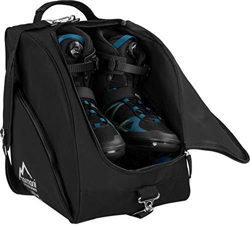 normani Inlinertasche Skatertasche Rollschuhtasche Skatertasche Hockeytasche Tragetasche mit praktischen Fächern 45 Liter Farbe Schwarz