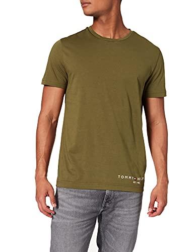 Tommy Hilfiger Logo Tee Maglietta, Verde (Putting Green), XL Uomo