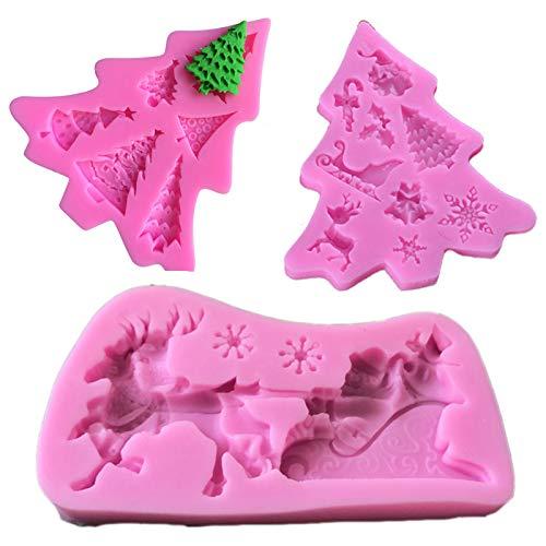 Moldes silicona con forma copos nieve Flores de silicona molde cake pan...