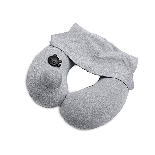 Almohadas suaves de la ayuda del cuello del terciopelo de la almohada inflable del viaje para los aviones