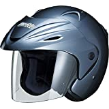 マルシン(MARUSHIN) バイクヘルメット ジェット M-380 シャイニーグレー フリーサイズ(57~~60CM未満)
