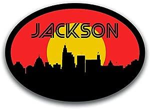 Jackson Mississippi Skyline Vinyl Decal Sticker | Cars Trucks Vans SUVs Windows Walls Cups Laptops | Full Color Printed | 5.5 Inch | KCD2561