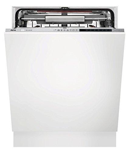 AEG fse83800p entièrement intégré 13 couverts A + + + Lave-vaisselle – Lave-vaisselle (entièrement intégré, Full Size (60 cm), acier inoxydable, boutons, froid, chaud, naturel)