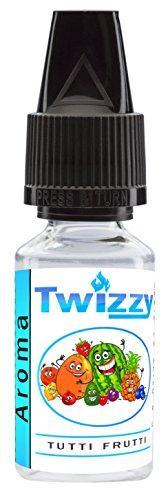 10ml Twizzy Tutti Frutti Aroma | Aroma für Shakes, Backen, Cocktails, Eis | Aroma für Dampf Liquid und E-Shishas | Flav Drops | Ohne Nikotin 0,0mg