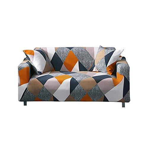TARTIERY - Funda elástica para sofá de Tejido de Licra y poliéster Antideslizante, Varios Patrones, para sofá o sofá de Tres plazas, Azul, Rubik'S Cube Three Seat