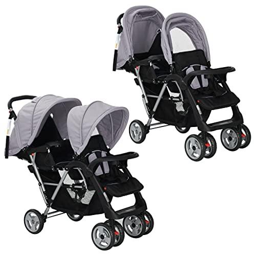 vidaXL Grau Kinderwagen Baby Bild