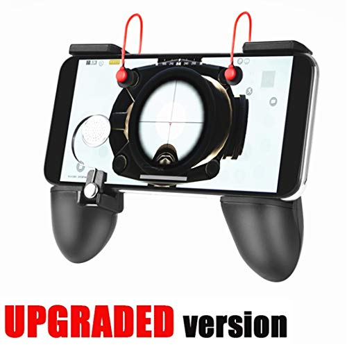 Mobile Game Controller [Upgrade Version Bundle] - WeeDee Mobile Controller with Gaming Trigger,Ergonomic Design Gaming Grip and Gaming Joysticks for Fortnite Android iOS Phones