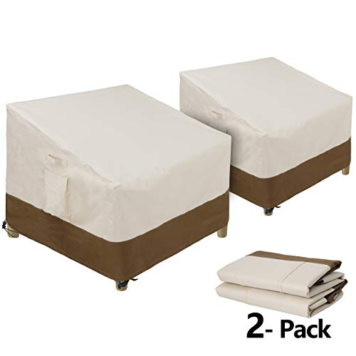 """SUPER DEAL Set of 2 Patio Chair Cover - Waterproof UV-Resistant Lounge Deep Seat Sofa Cover - All Weather Protective 600D Cover for Outdoor Lawn Patio Furniture (38"""" x 33"""" x 29"""")"""