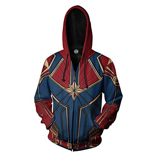 Sudadera para Hombre Marvel Movies Avengers 4 Capitán Marvel Sudadera Avengers Sudadera Captain Marvel-S