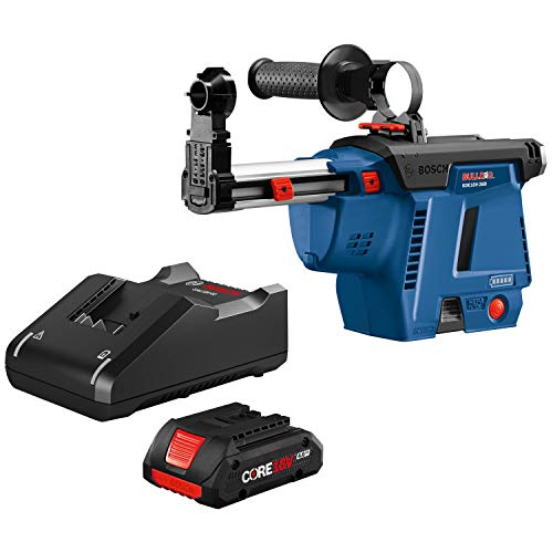 Bosch GDE18V-26DB15 SDS-plus Bulldog Mobile Dust Extractor Kit with (1) CORE18V 4.0 Ah Compact Battery