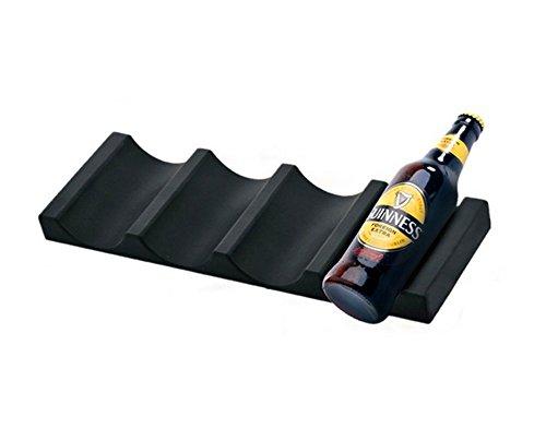 nevera botellero Botella y puede facilmente stacker - organizador de nevera para 10 latas de bebida - gabinete de cocina y nevera storage rack, Negro