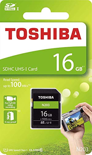 Toshiba THN-N203N0160E4 16GB N203 Clase 10 SD Tarjeta