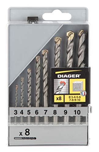 DIAGER 250C–Set punte Masonry Standard 8uds.