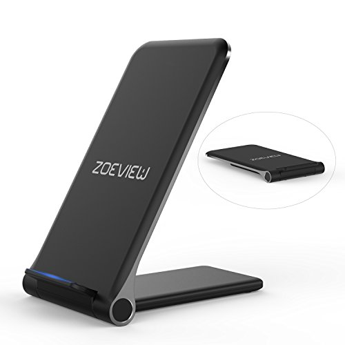 zoeview Dock Caricabatterie Wireless Senza Fili Pieghevole 10W Carica Rapida per Samsung Galaxy S10/Note 9/S9/S9 +/Note 8/S8, 7.5W per iPhone XS MAX/XR/XS/X/8/8 Plus, 5W ed Altri Telefoni Qi