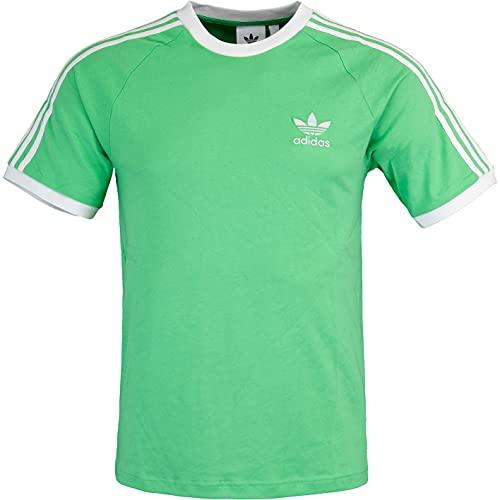adidas Camiseta con 3 rayas., verde, S