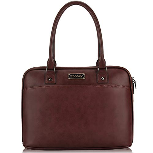 Laptop Bag for Women,15.6 Inch Laptop Tote Bag for Bussiness Work,Convenient Full Open Zipper Computer Bags for Women,Coffee