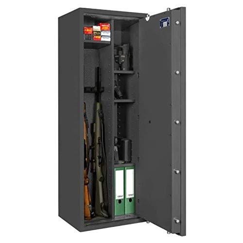 Format Waffenschrank Corvino 5 (Klasse 0), Elektronikschloss S&G Spartan 1006, Grad 0 nach EN 1143-1, H140xB50xT42 cm, 154 kg