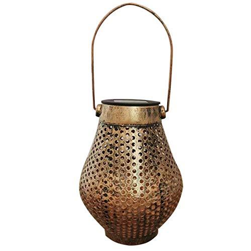Baalaa Retro Solar LED linterna al aire libre jardín colgante lámpara césped paisaje luz camino estaca Lámparas césped luz solar