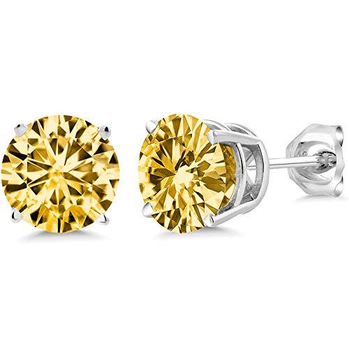 Geschenk für Mutter, Damen Ohrringe Schlichte Und Stilvolle 925 Sterling Silber Runde 3A Klassische Zirkonia Schöner Schmuck für Frauen