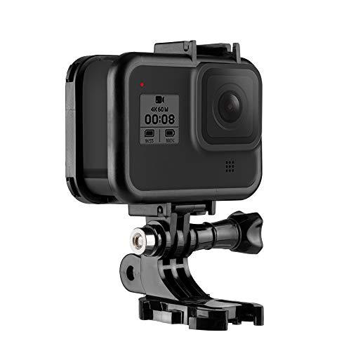 TELEISN Custodia protettiva per GoPro Hero 8 Black, adattatore di montaggio +vite