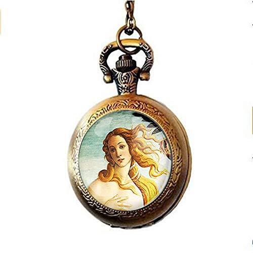 Venus Botticelli Taschenuhr Halskette Geschenkidee Glas Art Schmuck