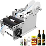 Hanchen Manual Round Bottle Labeling Machine Adjustable Labeler Label Applicator Machine MT-30 for Width 10-110mm Length 10-300mm Label