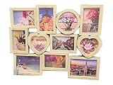 Lalia Marco de Photo Frame Collage 11 Fotos, en Forma de corazón, XXL 60x46cm, ser Querido, la Boda, el cumpleaños,...