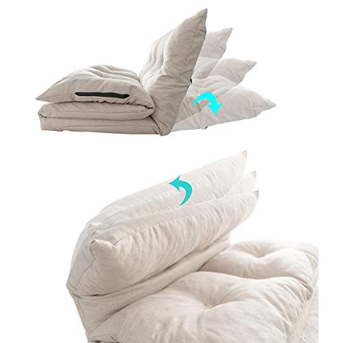 WFHhsxfh verstelbare stof vouwen Chaise Lounge Sofa stoel vloerbank vouwen verstelbare Sleeper Chaise Lounge ligstoel voor woonkamer luie bank meubilair
