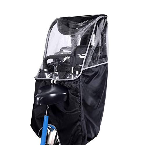 RUIXINLI Couverture de Moto Couvercle de Pluie Bouclier de Protection de la Pluie vélo Durable Respirant pour sièges de sécurité pour Enfants Couvre-Eau de vélo Accessoires de vélo