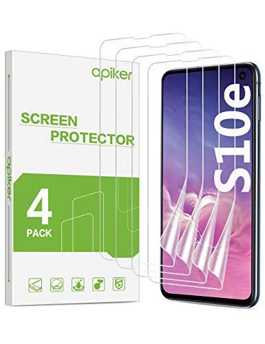 apiker [4 Stück] TPU Schutzfolie für Samsung Galaxy S10e, Samsung Galaxy S10e Displayschutzfolie, blasenfrei, hohe Definition, hohe Empfindlichkeit