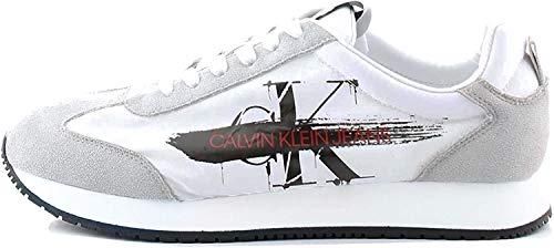 Calvin Klein Jeans B4S0656 Sneakers Hombre Blanco/Negro 40