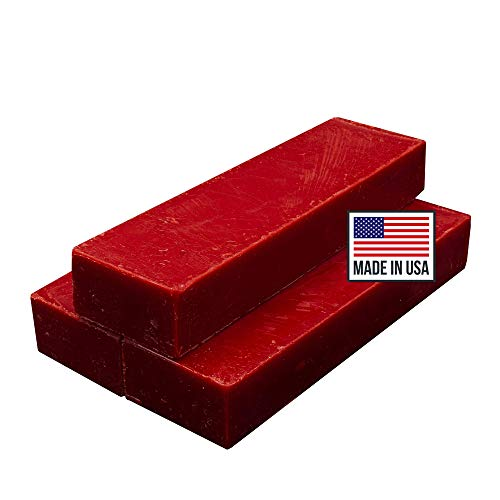 Blended Waxes, Inc. Cheese Wax 1lb. Block - Fully Refined Premium Wax For Cheese Making - Wax Can Be Used For A Variety Of Different Cheese Types (3, Red)