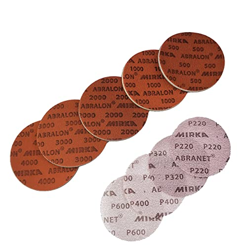 Sanding Assortment Pack – Round Aberlon Sanding Discs for Polishing Surfaces, Including Stone, Tile, Countertops, Epoxy Resin, and More! Includes Many Grits and Sizes!