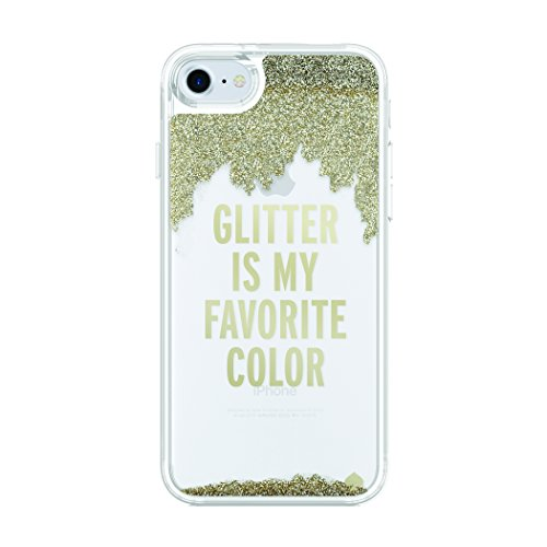 kate spade new york Liquid Glitter Case for iPhone 8 & iPhone 7 - Glitter is My Favorite Color Gold/Clear
