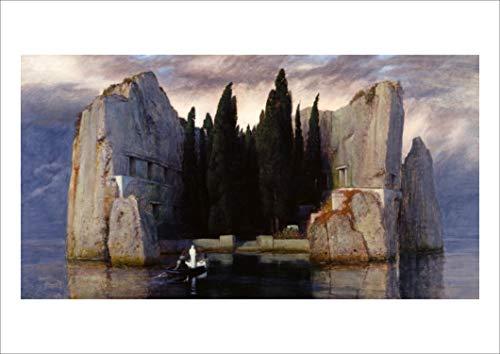 ポスター アルノルト・ベックリン 『死の島、第3バージョン(1883)』 A3サイズ 【返金保証有 日本製 上質】 [インテリア 壁紙用] 【ポスター アートギャラリー】絵画 アート 壁紙ポスター