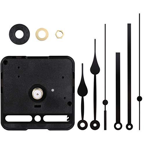 VOSAREA 1 Set Straight Hand Silent Clock Movement Mechanism Clock Movement Kits for DIY Clock Replacement