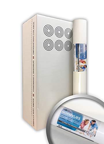 PRO[f]home® - NORMVLIES 150 g Renoviervlies 6 Rollen 112,5 m2 Glattvlies Malervlies glatte überstreichbare Vliestapete weiß