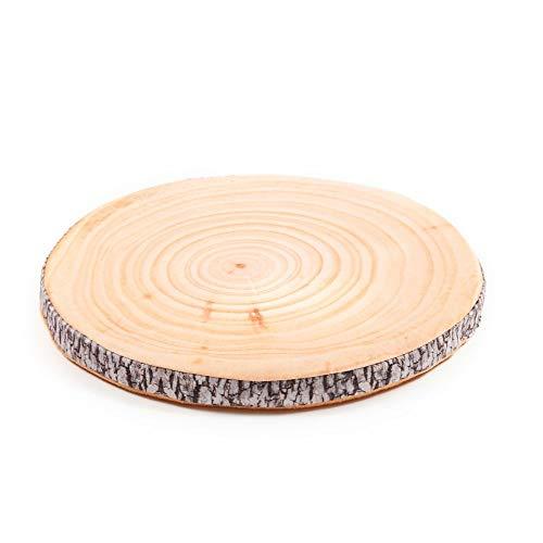 Dreamhome Stuhlkissen Matratzenkissen Bodenkissen Sitzkissen Auflage 38 Ø Früchte Holz Baum, Variante:BUCHE
