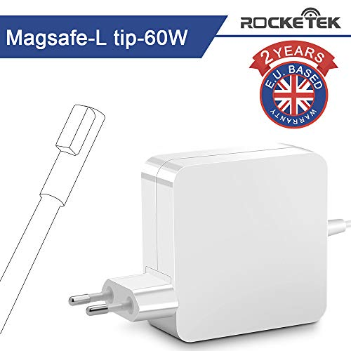 Rocketek Mac Book Pro Ladegerät 60W, 60W Magsafe L Mac Book Pro Ladegerät Power Adapter kompatibel mit Apple MacBook Pro 13