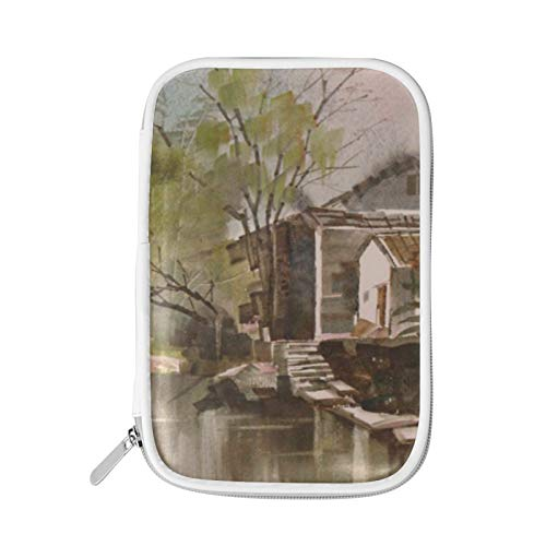Zipper Large Make Up Cosmetic Pen Pencil Stationery Storage Pouch Bag Case Art Willow Creek House
