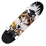 QUNHU Pro Completa Skateboards para Principiantes Adultos Adultos Niños Niños Niños 31'X8 Tableros de Skate 7 Capas Cubierta Maple Lengues Longboards (Color : W)