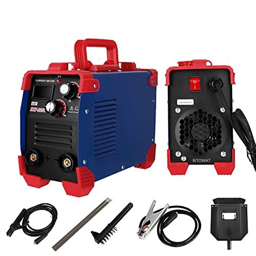 ARC Máquina de Soldadura Eléctrica Digital, 225Amp MMA IGBT 2.5-3.2MM Soldador de Soldadura con Pantalla Digital, Soldador de Mano Soldadora Inverter Portátil Equipo de Soldadura