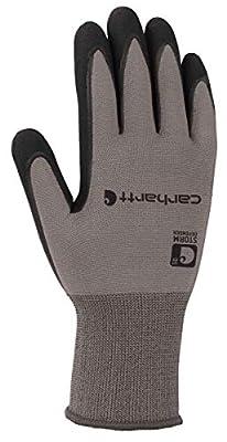 Carhartt Men's Thermal WB Waterproof Breathable Nitrile Grip Glove, Grey, XXL