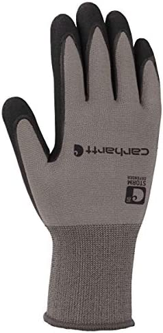 Carhartt Men s Thermal WB Waterproof Breathable Nitrile Grip Glove Grey L product image